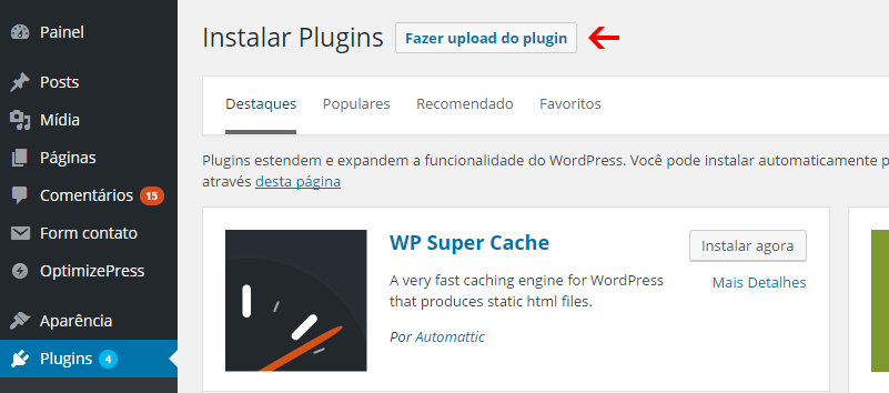 upload plugin wordpress