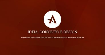 ideia, conceito e design - print da home do site david arty