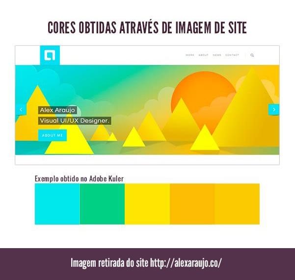 Paleta de cores obtida através de um site