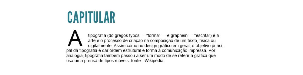 tipografia - capitular