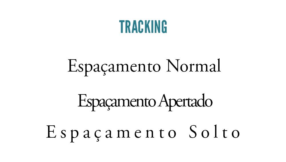 tipografia - tracking