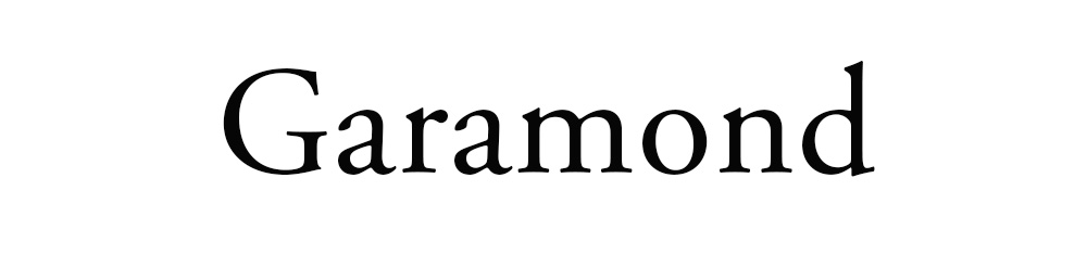 tipografia - Garamond