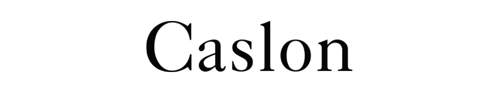 tipografia - caslon