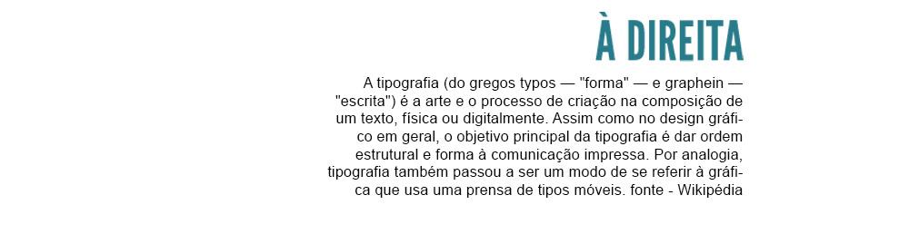 tipografia - alinhamento à direita