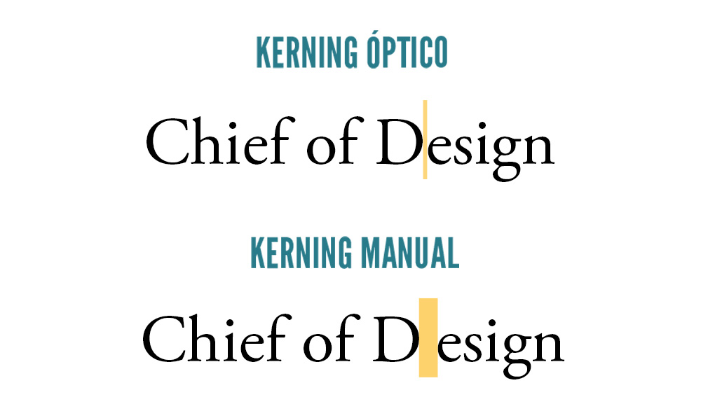 tipografia - kerning óptico e manual