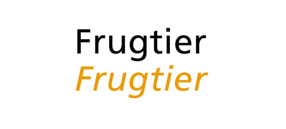 tipografia - frugtier