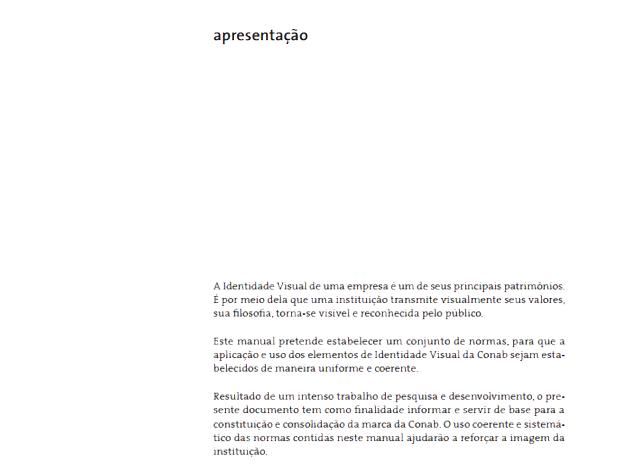 exemplo de aplicação da marca exemplo de objetivo e introdução - imagem retirada da página de apresentação do manual de marca do senac