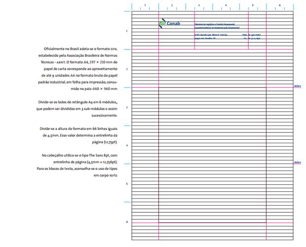 exemplo de papel timbrado - imagem retirada da página de apresentação do manual de marca da UNB - Universidade de Brasília
