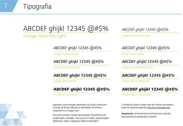 exemplo de aplicação da marca exemplos de tipografia - imagem retirada da página de tipografia do manual de marca do Dropbox