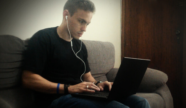 david-trabalhando