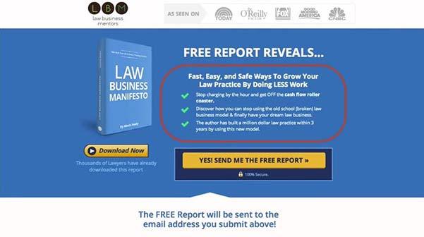 squeeze page law busines mentors