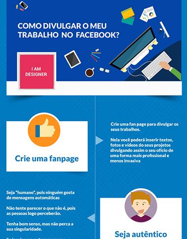 Infogr fico como divulgar o meu trabalho no facebook for O architecture facebook