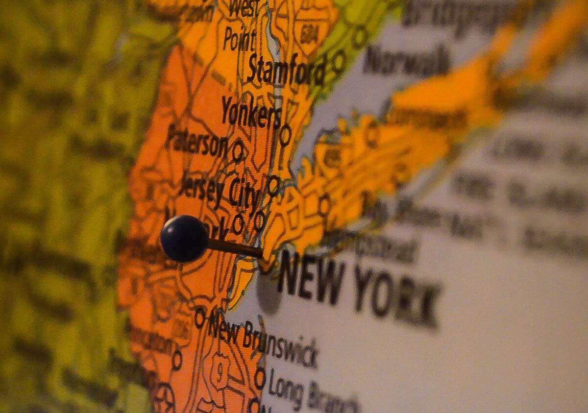 mapa da cidade de new york