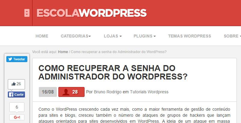 Escola WordPress