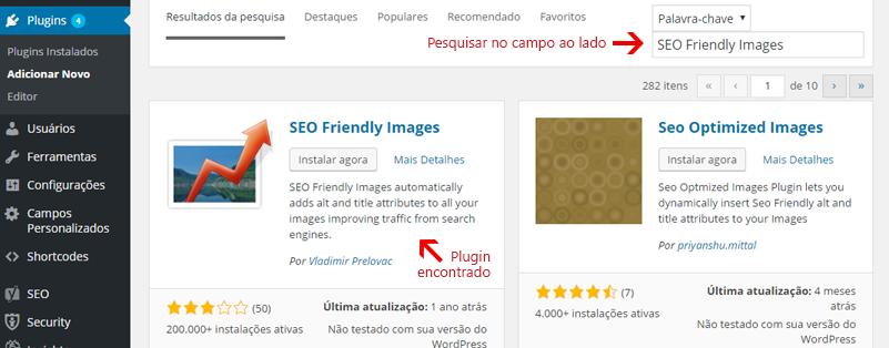pesquisa plugins WordPress