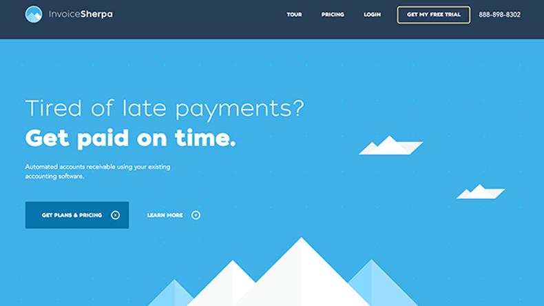 exemplo da aplicação do flat design em website