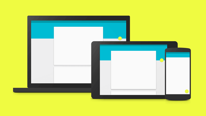 UI Design - imagem representando o material Design do Google