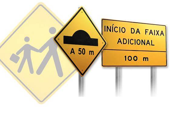 sinalização placas