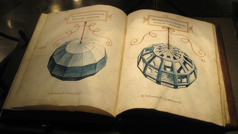 proporção áurea - Foto do livro a divina proporção