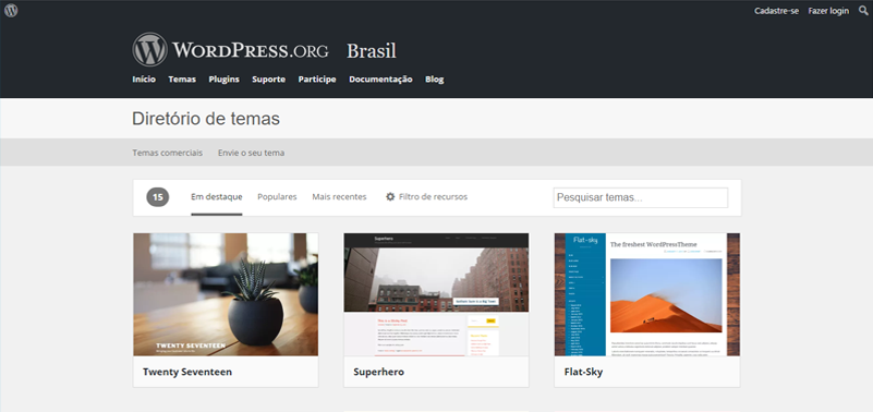 Wordpress como CMC - temas wordpress