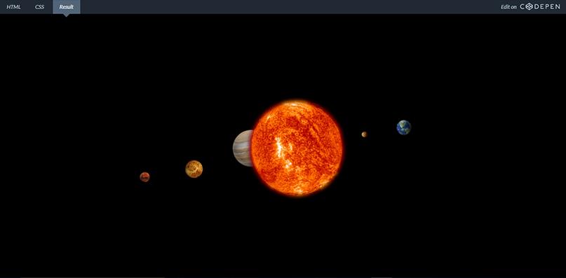 Full CSS 3D Solar System