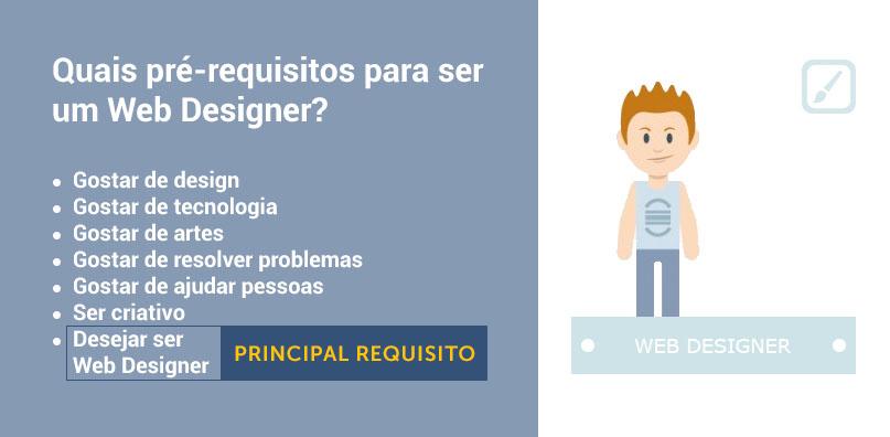 pré-requisitos para ser um web designer