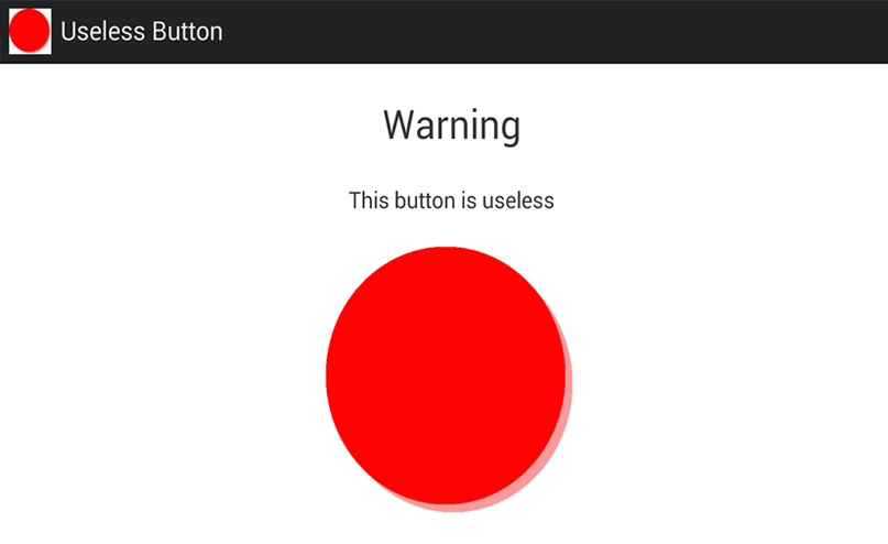 Useless button