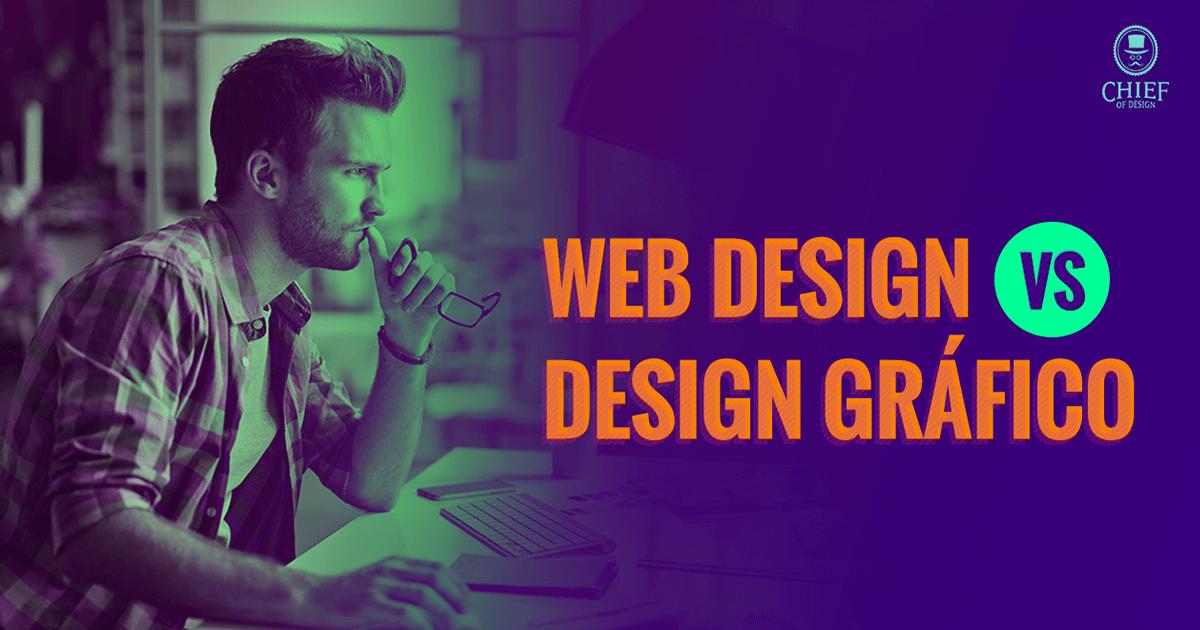 web design x design gráfico