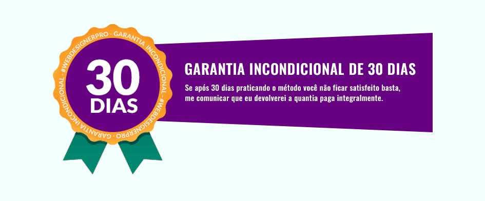 garantia do curso de web design online