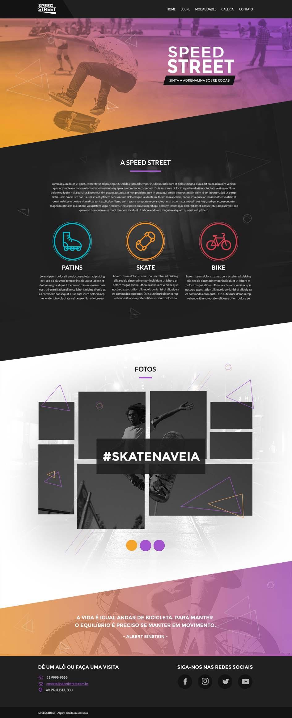 layout para ser desenvolvido no curso