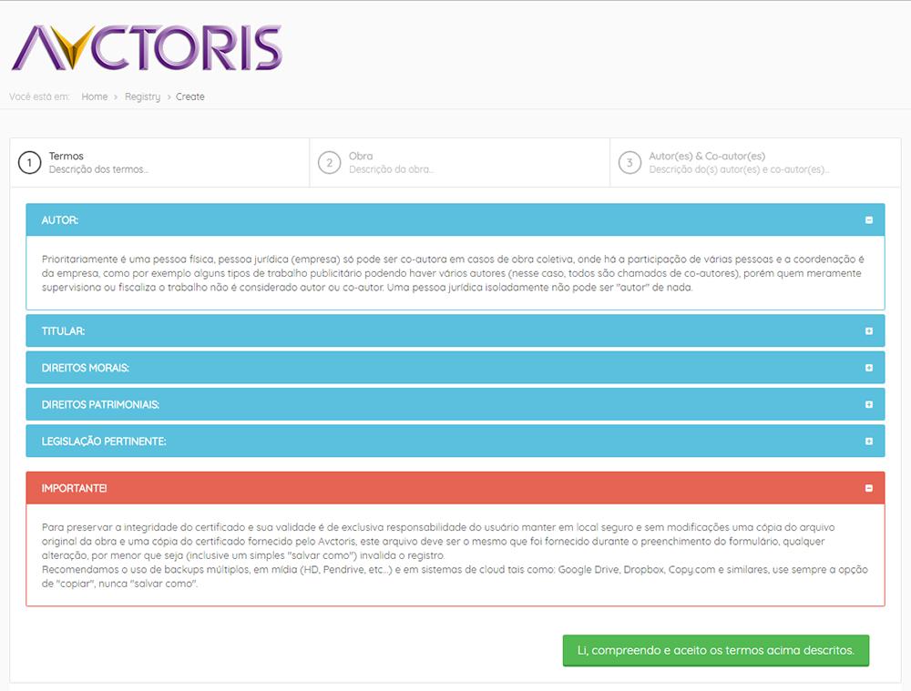 avctoris registro de direito autoral - Avctoris funciona?