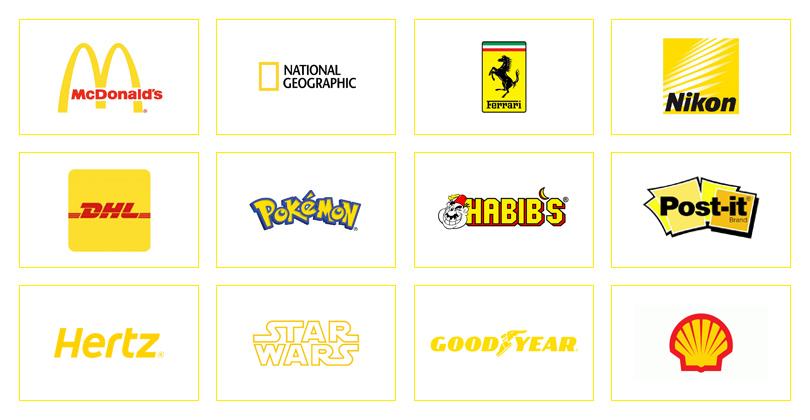 marcas com a cor amarela