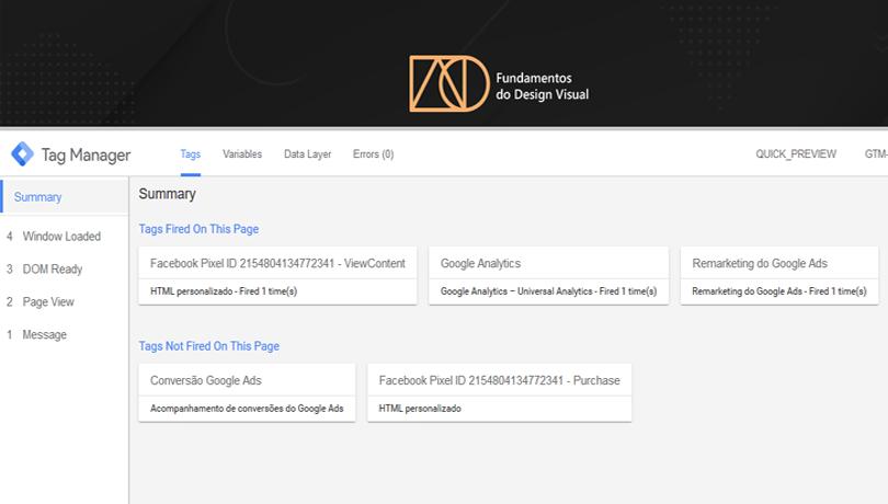 GoogleTag Manager - Modo de visualização
