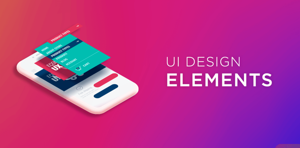 UI Design elements - Elementos da interface do usuário