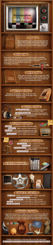 UI Design - skeuomorphic design infographic
