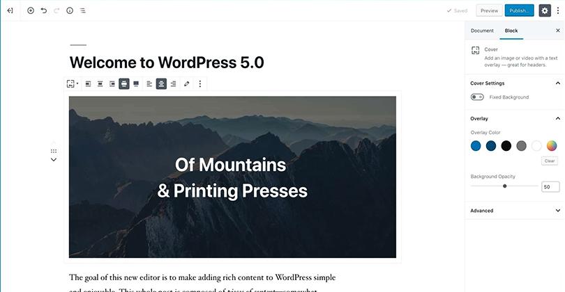 Gutemberg WordPress