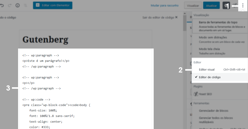 html documento Gutenberg