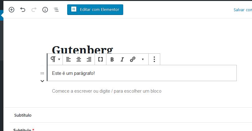 personalização do conteúdo do bloco