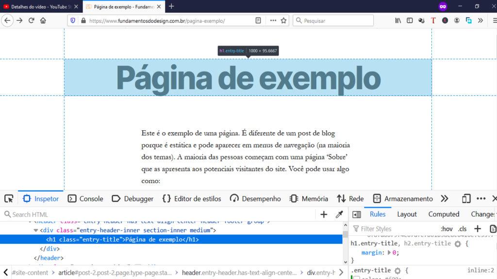 Inspecionando elemento HTML